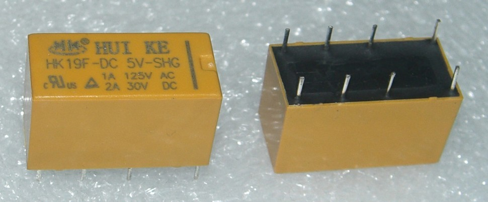 HK19F DC5V Electromagnetic Relay 1A