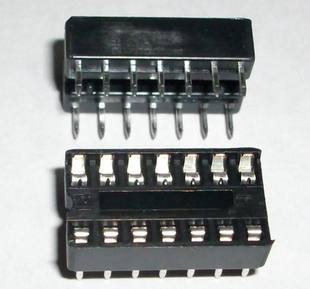 2 x IC sockets for 7 pins DIP14 ICs
