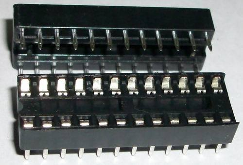 2 x IC sockets for 12 pins DIP24 ICs