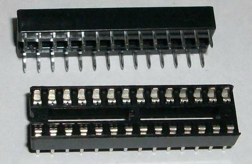 2 x IC sockets for 14 pins DIP28 ICs
