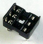 2 x IC sockets for 3 pins DIP8 ICs