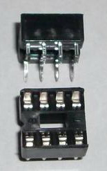 2 x IC sockets for 4 pins DIP8 ICs