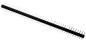 Male Header Single Row Straight Dip type 2.54mm