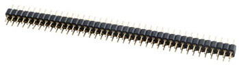 Male Header Dual Row Straight Dip type 2.54mm