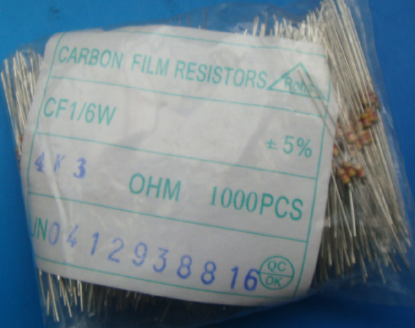 Carbon Film Fixed Resistors 4K3 OHM 5%