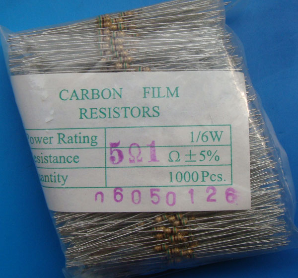 Carbon Film Resistors 5R1 OHM 5%