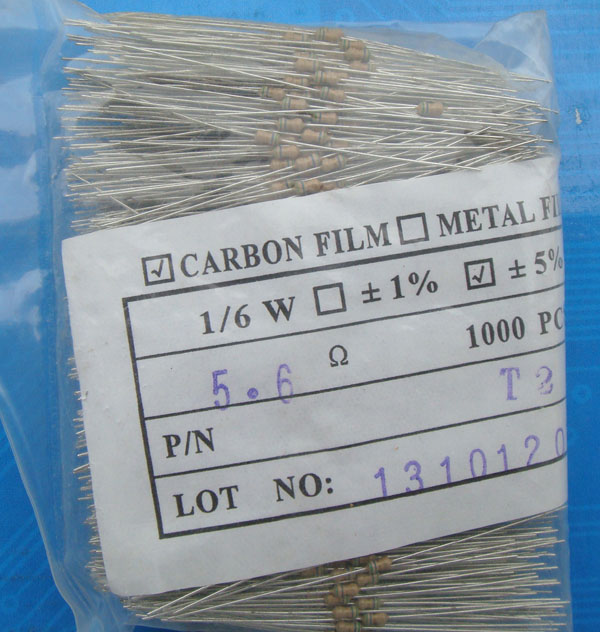 Carbon Film Resistors5R6 OHM 5%