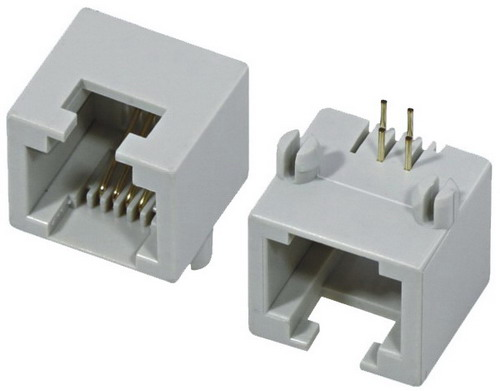 6 Groove 4 Pin RJ11 connector PCB Jack