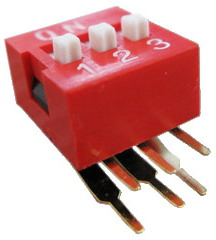 Right Angle Series Slide Dip Switches 3pin