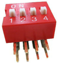 Right Angle Series Slide Dip Switches 4pin