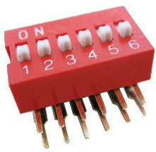 Right Angle Series Slide Dip Switches 6pin