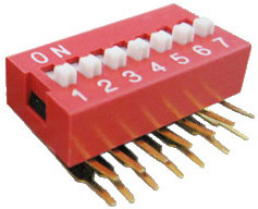Right Angle Series Slide Dip Switches 7pin
