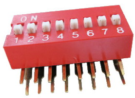 Right Angle Series Slide Dip Switches 8pin