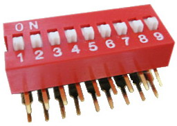 Right Angle Series Slide Dip Switches 9pin