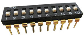 DIP IC Type Switches 10 pin x 2 row