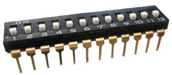 DIP IC Type Switches 12 pin x 2 row