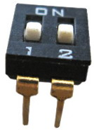 DIP IC Type Switches 2 pin x 2 row