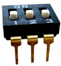 DIP IC Type Switches 3 pin x 2 row