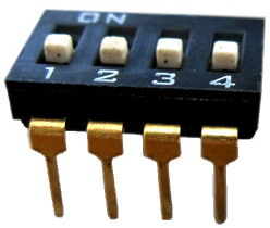 DIP IC Type Switches 4 pin x 2 row