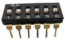 DIP IC Type Switches 6 pin x 2 row