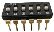DIP IC Type Switches 7 pin x 2 row