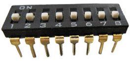 DIP IC Type Switches 8 pin x 2 row