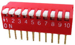 Piano Dip Switches 10 pin x 2 row