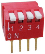 Piano Dip Switches 4 pin x 2 row