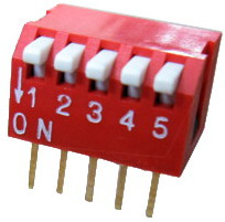 Piano Dip Switches 5 pin x 2 row