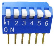 Piano Dip Switches 6 pin x 2 row