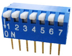 Piano Dip Switches 7 pin x 2 row