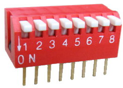 Piano Dip Switches 8 pin x 2 row